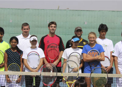 Prince brand clinic with Marcel Granollers ATP player