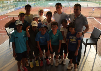 18.Al Wasl players With Novak Djokovic family in 2013
