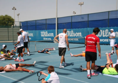 21.Streatching during the High performance day in Abu Dhabi 2015