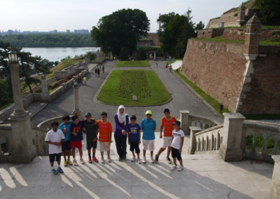 22.Players from 2013 camp at Belgrade fortress
