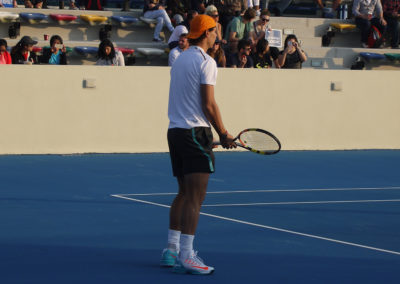 23.On court during Nadals training in 2014