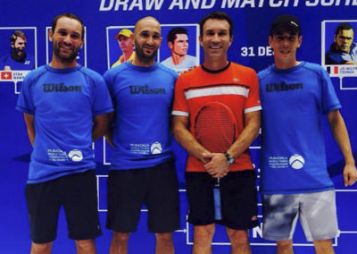 With Pat Cash during Mubadala tournament clinic in 2015