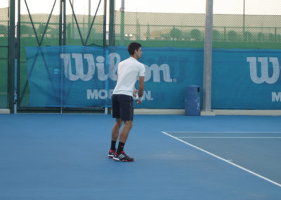 25.On court during Novak Djokovics training in 2014