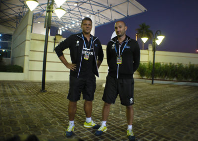 26.Filip Novakovic and Milos Milunovic as official coaches for Mubadala clinics in 2015