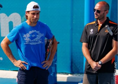 35. On court with David Ferrer in 2014