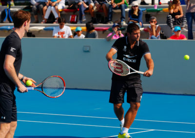 36. Filip on court with Andy Murray in 2015