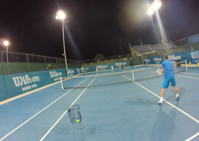 43. Hitting with ATP no.68 Blaz Kavcic in Abu Dhabi 2015