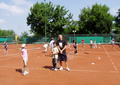 44. Jelena Lukic (WTA 1059) and Vladislav Djuraskovic (ITF ranked)at the beginning of their tennis careers in 2004